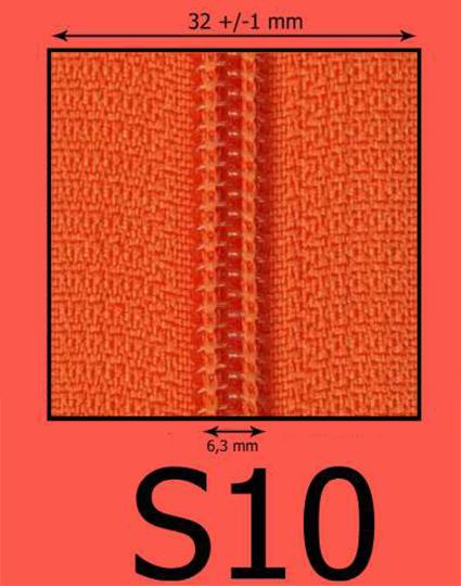 S10 špirálový zips (zdrhovadlo)
