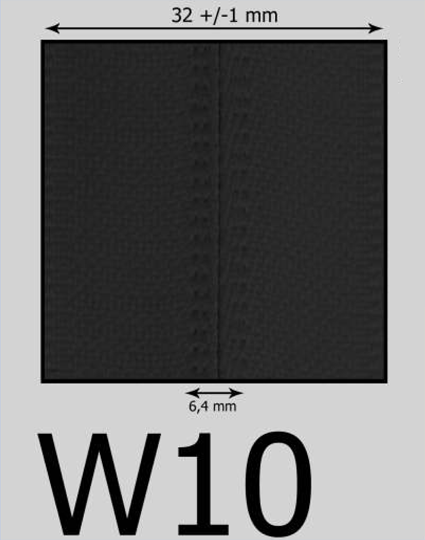 W10 vodeodolný zips (zdrhovadlo)